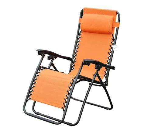 pool recliner outsunny reclining outdoor zero gravity chair orange
