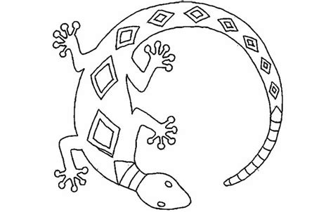coloring page of a lizard colour by number reptiles stock vector color by number