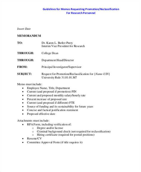 employee promotion template employee memo template 10 exles in word pdf