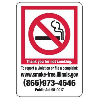 no smoking sign illinois thank you for not smoking illinois no smoking sign