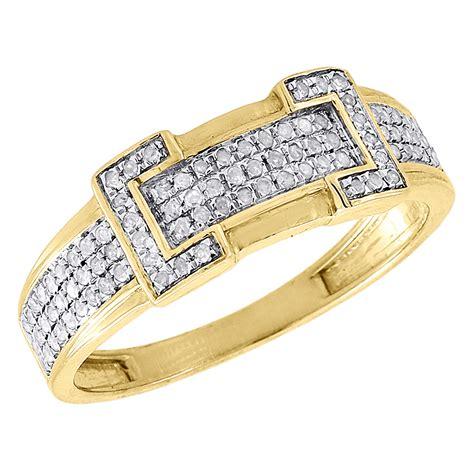 diamond trio set  yellow gold ladies engagement ring