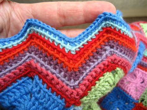 zig zag crochet border pattern attic24 zigzag baby blanket ta dah