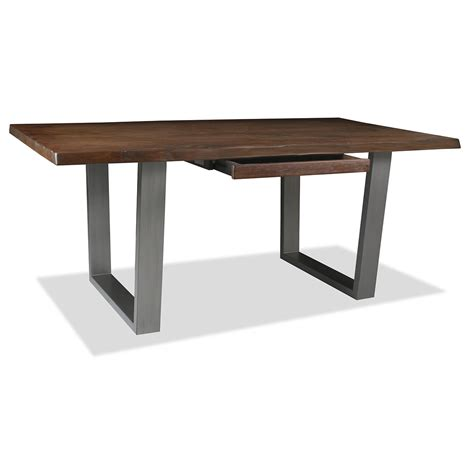 astoria live edge hardwood and wrought iron desk