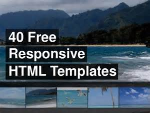 Free Responsive Html Templates by 40 Free Responsive Html Templates