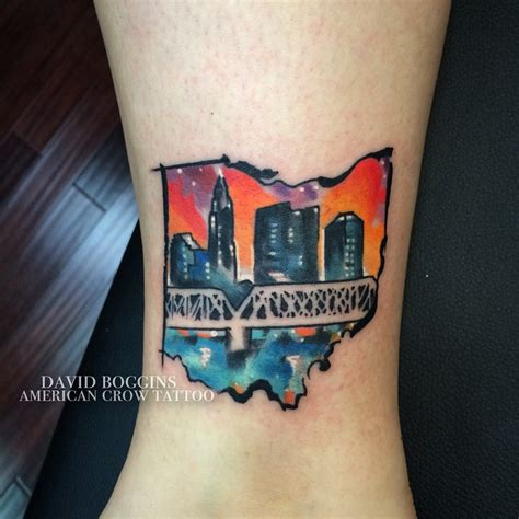 watercolor ohio columbus tattoo best tattoo ideas gallery