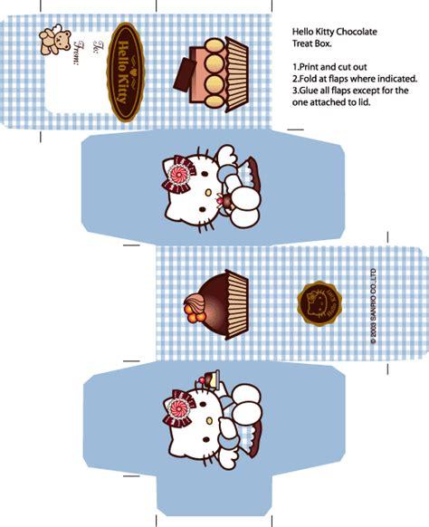 cute kawaii papercraft free hello kitty box template paper kawaii