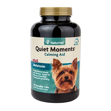 dogs and melatonin moments calming aid with melatonin tablets by naturvet baxterboo
