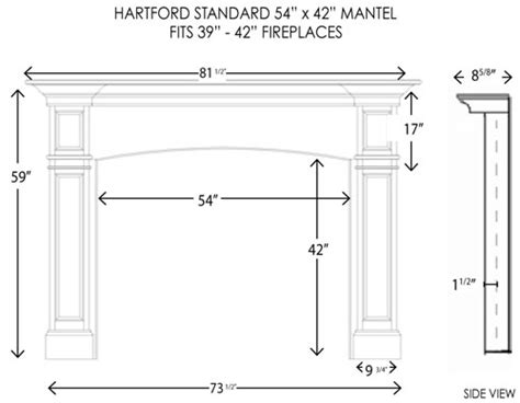 fireplace mantel height neiltortorella - Standard Mantel Height