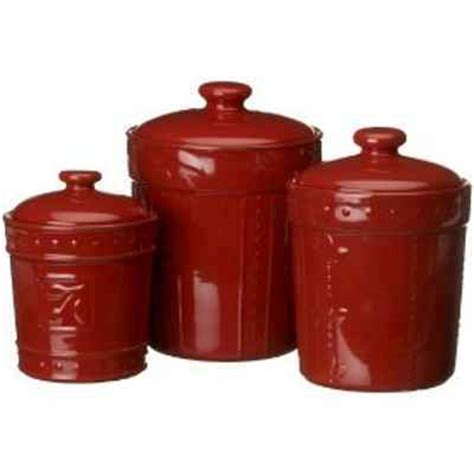 red ceramic canisters for the kitchen canisters for kitchen