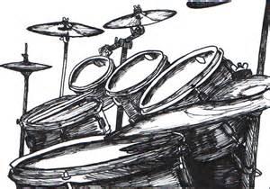 my drumkit in ink by turk himself on deviantart