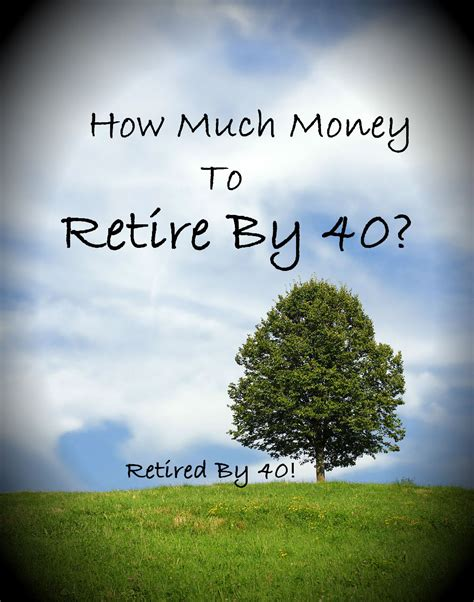 How Much Money Does It Take To Retire Comfortably how much money does it take to retire by 40 living on fifty