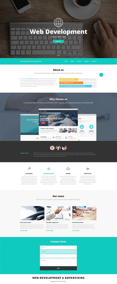 Web Design And Advertising Website Template 52537 Web Designer Templates