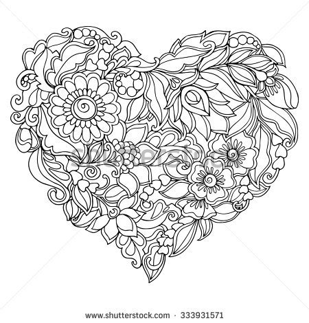 vintage pattern colouring book coloring book for adult and older children coloring page
