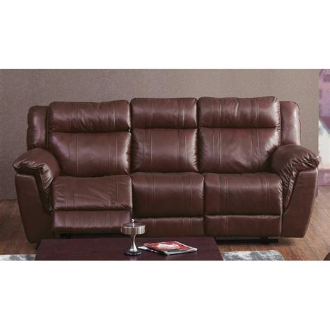 brown leather reclining sofa k motion 90 quot brown leather match power reclining sofa