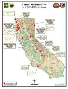 forest fires in california map california map