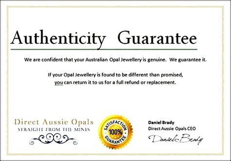 Free Certificate Of Authenticity Template free certificate of authenticity template word sle templates