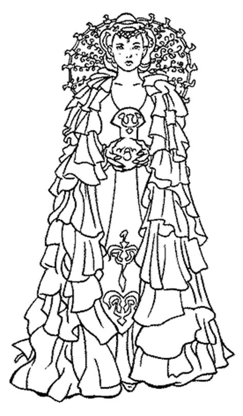 star wars queen amidala coloring page coloriage starwars 2 224 colorier allofamille