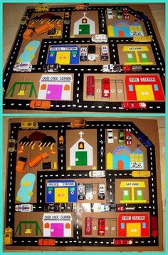 Mainan Maps City Of Cars car play mat road play rug for activities