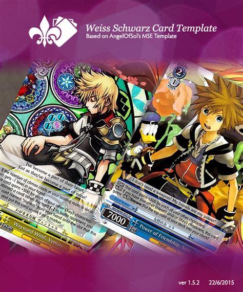 weiss schwarz card template weiss schwarz mse template by berander on deviantart