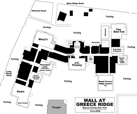 layout of the mall mall hall of fame october 2007