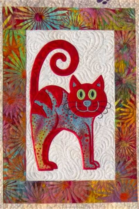 Applique Cat Quilt Patterns by Cat S Meow Quilt Up Of Machine Embroidery Design