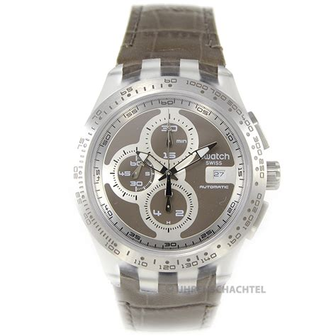 Swatch Automatic swatch uhr irony automatic chrono right track grey svgk409 neu