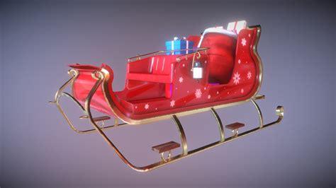 santa clauss sleigh    model