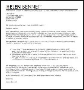 Construction Superintendent Cover Letter by Building Superintendent Cover Letter Sle Livecareer