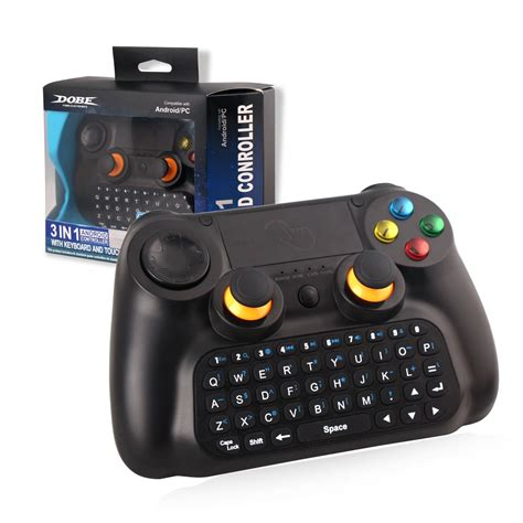 Dobe Keyboard Gamepad Wireless Dengan Touch Pad Ti 501 Omky13bk 2 4g 3in1 controller joystick gamepad wireless with usb interface and bluetooth touch pad