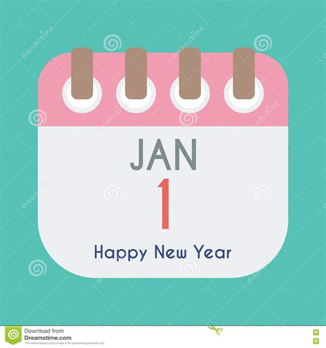 why is new year not on january 1 calendar icon flat of january 1 new year day stock vector