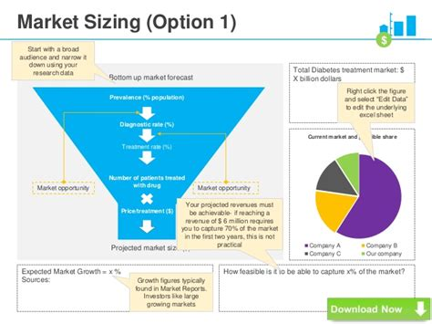 market sizing template vc pitch deck template powerpoint