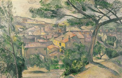 L Painting by File Paul Cezanne Morning View Of L Estaque Against The