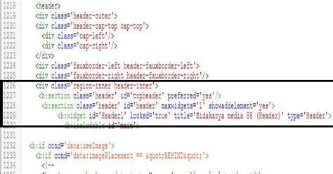 membuat kolom header di html cara membuat 1 2 3 kolom gadget diatas atau dibawah