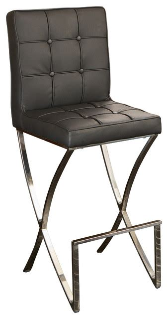 Modern Leather Counter Stools by Modern Leather Bar Stool Black Bar