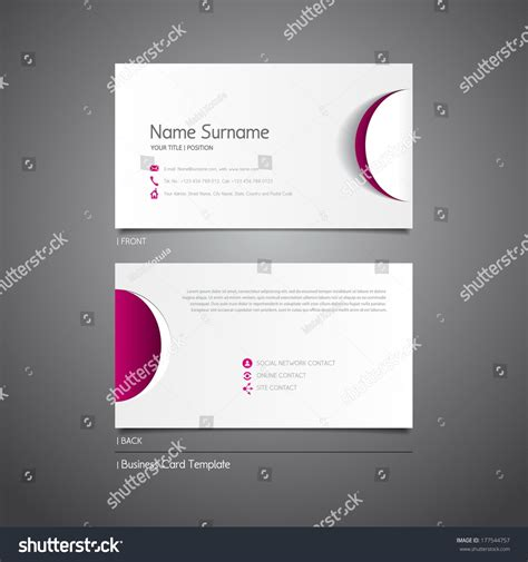 Modern Simple Light Business Card Template Stock Vector 177544757 Shutterstock Circle Business Card Template