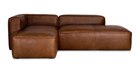 article furniture mello taos brown left sectional sofas article modern