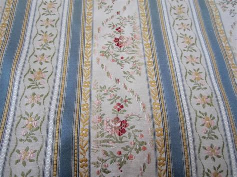 vintage upholstery fabric for sale sale french vintage satin brocade fabric stripe floral