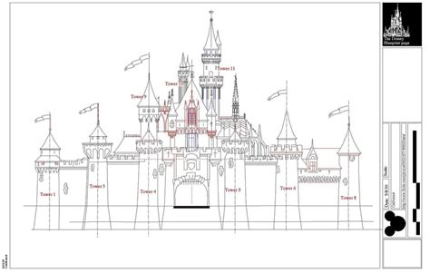 disney imagineering blueprints for cinderella castle i want to add the layout for the walkthrough but