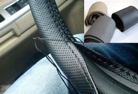 Kunci Stir Mobil Diy Car Steering Wheel Cover Upholstery Genuine Quality