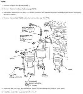 2007 Honda Ridgeline Catalytic Converter Rear Catalytic Converter Removal Honda Ridgeline Owners