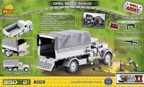 opel blitz ww2 bricker construction toy by cobi 2449 opel blitz 3t 4x2