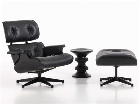 The Eames Lounge Chair by Buy The Vitra Eames Lounge Chair Ottoman All Black At
