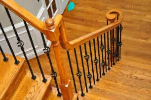 Stair Spindle Installation by Wrought Iron Baluster Installation Traditional