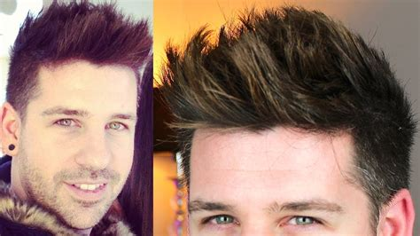 hairstyles for foreheads that stick out on a 2013 trend style men hair tutorial tigi wax stick
