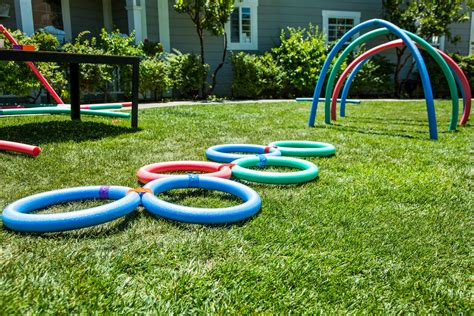 diy backyard fun how to home family diy backyard fun with pool noodles
