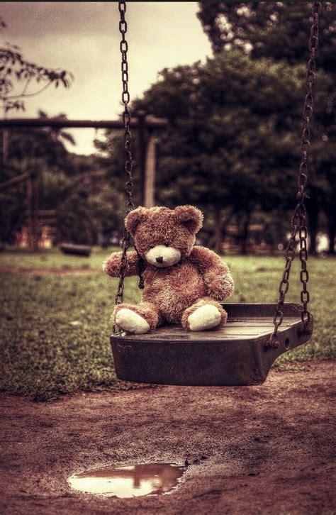 swinging teddy image 2274561 by patrisha on favim com