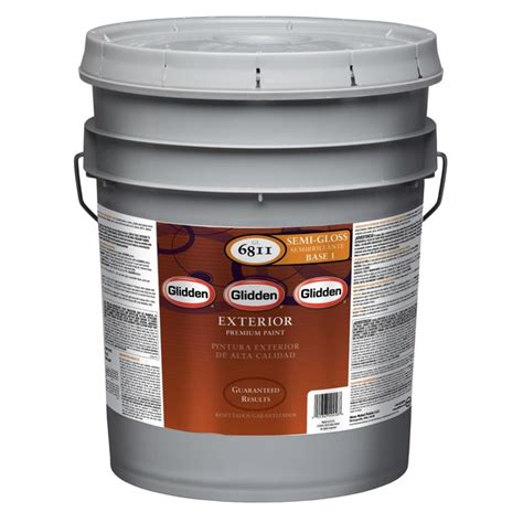 glidden premium 5 gal semi gloss exterior paint gl6811 05 the home depot