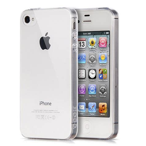 Silicone Transparant Iphone 4 portefeuille clear for iphone 4 s 4s