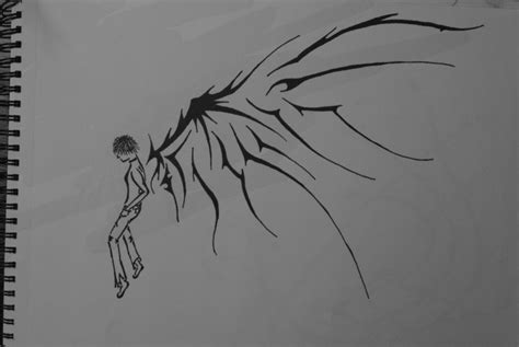 angel boy with demon wings by xxfreexxlancerxx on deviantart