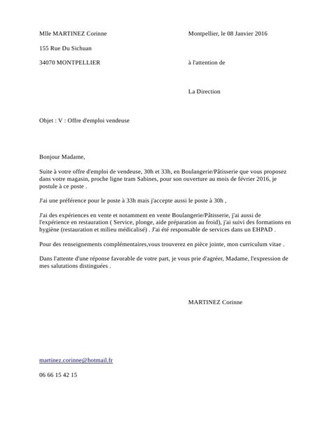 Lettre De Motivation Vendeuse Dans Une Boulangerie Lettre De Motivation Pdf Par Open Office Fichier Pdf
